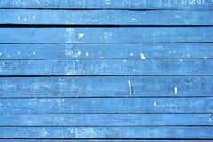 Alte blaue hölzerne Anschlagtafel Stockfotografie