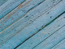Alte blaue hölzerne gestreifte Oberfläche Lizenzfreie Stockfotos