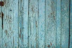 Alte blaue hölzerne Planken Stockfoto