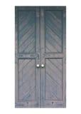 Alte blaue hölzerne Türen Lizenzfreies Stockfoto