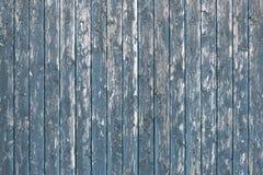 Alte blaue hölzerne Wand Stockfotos