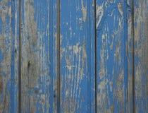 Alte blaue hölzerne Wand Lizenzfreie Stockfotografie