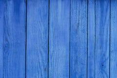 Alte blaue hölzerne Wand-Brett-Hintergrund-Beschaffenheit Lizenzfreies Stockbild