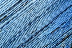 Alte blaue hölzernes Brett-Hintergrund-Beschaffenheit Stockfotografie