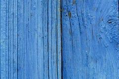 Alte blaue hölzernes Brett-Hintergrund-Beschaffenheit Lizenzfreies Stockfoto