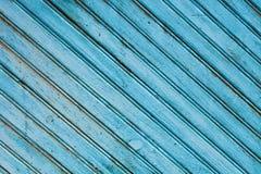 Alte blaue Holzverkleidung Stockbild