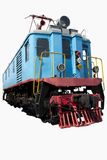 Alte blaue Lokomotive Stockfotografie