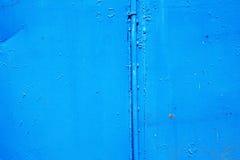 alte blaue Metallwand Lizenzfreies Stockfoto