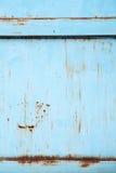 alte blaue Metallwand Stockfotos
