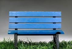 Alte blaue Park-Bank Lizenzfreies Stockfoto