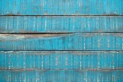 Alte blaue Parkettplanken Stockfoto