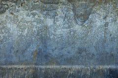 Alte blaue rostige Blechtafel Lizenzfreie Stockfotos