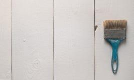 Alte blaue schäbige strukturierte Bürste der Weinlese Lizenzfreie Stockfotografie