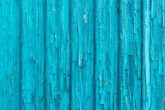 Alte blaue Schmutz- und Weinleseholzwand Stockfotos