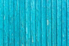 Alte blaue Schmutz- und Weinleseholzwand Lizenzfreie Stockfotos