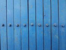 Alte blaue Stahltürbeschaffenheit Lizenzfreie Stockbilder