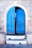 Alte blaue Tür, Kreta, Griechenland Lizenzfreie Stockfotografie