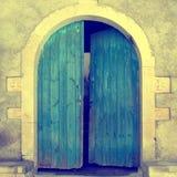 Alte blaue Tür, Kreta, Griechenland Lizenzfreie Stockbilder