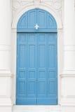 Alte blaue Türen Lizenzfreies Stockfoto