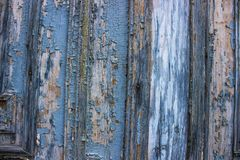 Alte blaue Türen vom 19. Jahrhundert Stockfotografie