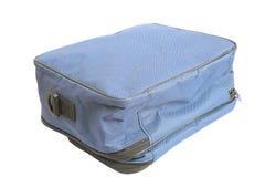 Alte blaue Tasche über Weiß Stockbilder