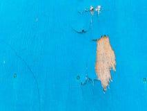Alte blaue und braune hölzerne Wand Lizenzfreies Stockfoto