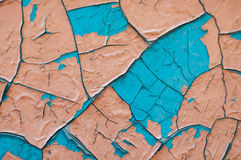 Alte blaue und rosa Farbenbeschaffenheitsnahaufnahme blaues und rosa gebrochenes Lizenzfreie Stockfotografie