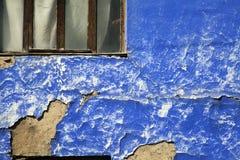 Alte blaue Wand Lizenzfreies Stockbild