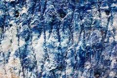 Alte blaue Wand Lizenzfreie Stockbilder