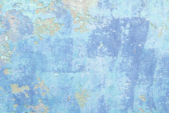 Alte blaue Wand Stockbild