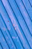 Alte blaue Zinkwand Lizenzfreies Stockbild