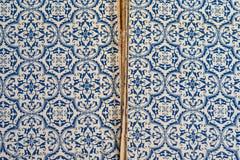 Alte blaues Buch-innere Abdeckung und Schwergängigkeit Lizenzfreies Stockbild