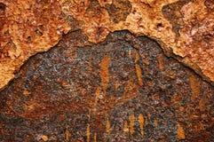 Alte Blechtafel des Eisens mit Rost Zusammenfassungshintergrund Lizenzfreies Stockbild
