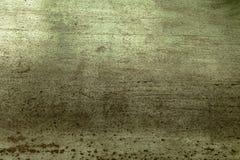 Alte Blechtafel, rostig und schmutzig mit Kratern und Kratzern Lizenzfreie Stockbilder