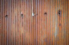 Alte Blechtafeldachbeschaffenheit Muster der alten Blechtafel Blechtafelbeschaffenheit Lizenzfreie Stockfotografie