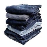 Alte Blue Jeans Lizenzfreie Stockbilder