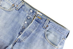 Alte Blue Jeans Stockfotos