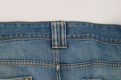 Alte Blue Jeans-Beschaffenheit der Nahaufnahme für Hintergrund Stockbild