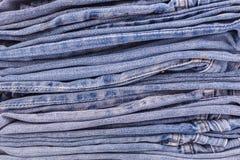 Alte Blue Jeans Beschaffenheit und Hintergrund Lizenzfreie Stockbilder