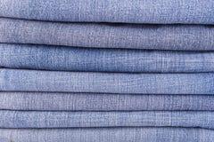 Alte Blue Jeans Beschaffenheit und Hintergrund Lizenzfreie Stockfotografie