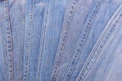 Alte Blue Jeans Beschaffenheit und Hintergrund Lizenzfreies Stockbild