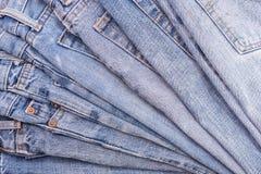 Alte Blue Jeans Beschaffenheit und Hintergrund Lizenzfreies Stockfoto