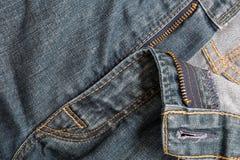 Alte Blue Jeans-Hintergrund-Nahaufnahme Lizenzfreie Stockfotografie