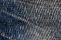 Alte Blue Jeans während einer sehr langen Zeit Lizenzfreie Stockfotografie