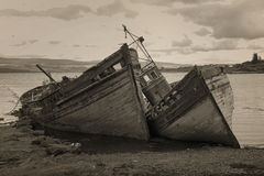 Alte boads gestrandet in der Insel von Mull Lizenzfreies Stockfoto