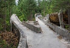 Alte Bobbahn Stockfoto