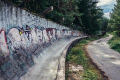 Alte Bobbahn in Sarajevo Stockfoto