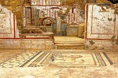 Alte Boden und Wand-Dekorationen Stockbild