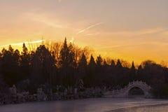 Alte Bogen-Brücke Lizenzfreies Stockbild