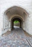 Alte Bogenbahn, alte Stadt Tallinns in Estland Stockbild